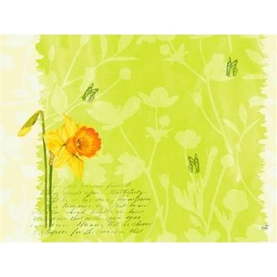 Image of   Dækkeserviet, Dunicel Spring Flowers, 40x30cm, kiwi *Denne vare tages ikke retur*