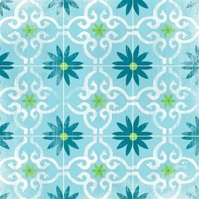 Image of   Middagsserviet, Dunilin Maja, 1/4 fold, 0,4x0,4m, flerfarvet *Denne vare tages ikke retur*