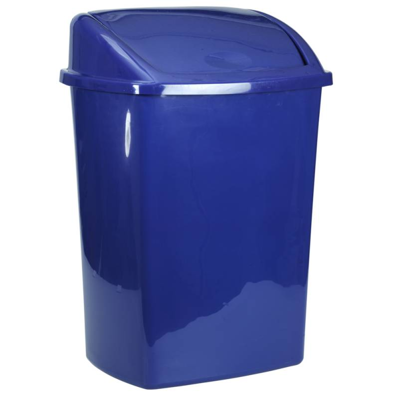 Image of   Affaldsspand, 23,5x30x40,5cm, 15 l, blå, plast, med sving låg