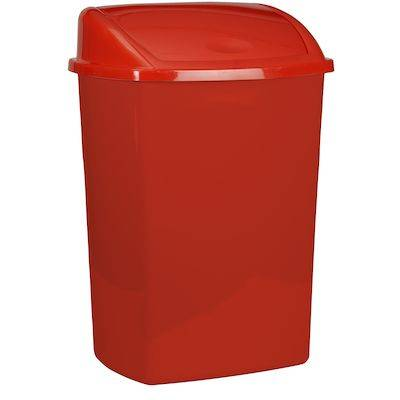 Image of   Affaldsspand, 23,5x30x40,5cm, 15 l, rød, plast, med sving låg