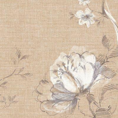 Image of   Middagsserviet, Dunilin Floris, 1/4 fold, 40x40cm, beige, papir *Denne vare tages ikke retur*