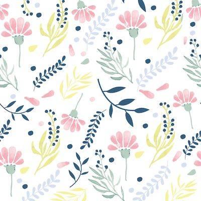 Image of   Frokostserviet, Duni Floral prints, 3-lags, 1/4 fold, 33x33cm, flerfarvet *Denne vare tages ikke retur*