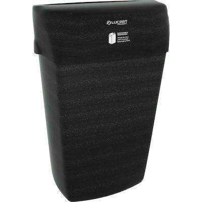 Image of   Affaldsspand 23 liter, Lucart EcoNatural, 215x330x500mm, sort