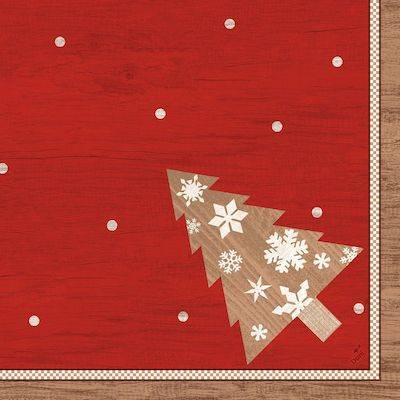 Image of   Middagsserviet, Dunilin Alps, 1/4 fold, 40x40cm, rød *Denne vare tages ikke retur*