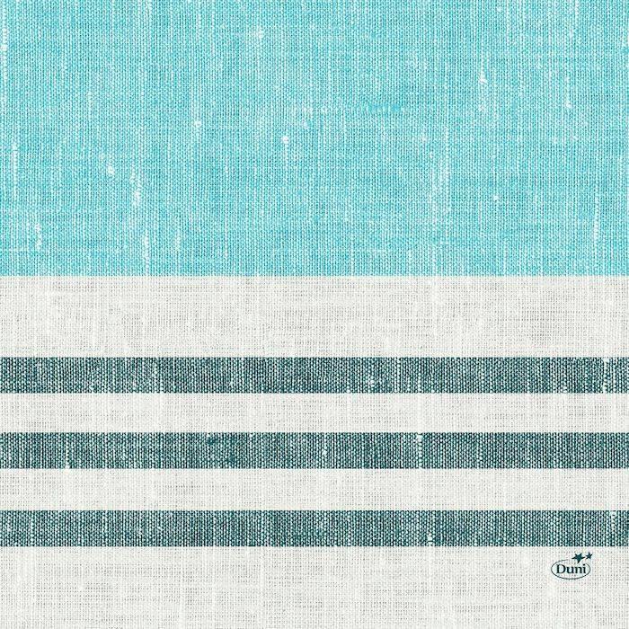 Billede af Frokostserviet, Duni Raya, 3-lags, 1/4 fold, 33x33cm, blå *Denne vare tages ikke retur*