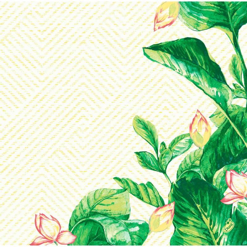 Image of   Middagsserviet, Dunisoft Banas, 1/4 fold, 40x40cm, grøn *Denne vare tages ikke retur*