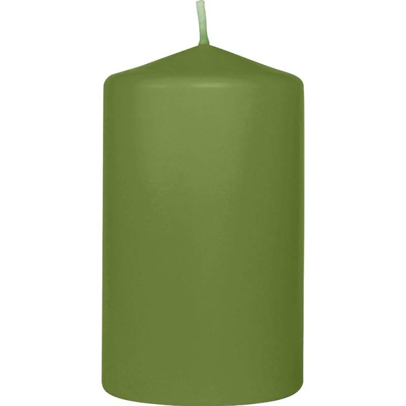 Image of   Bloklys, Duni, 13cm, Ø6cm, leaf green, 40 timer *Denne vare tages ikke retur*