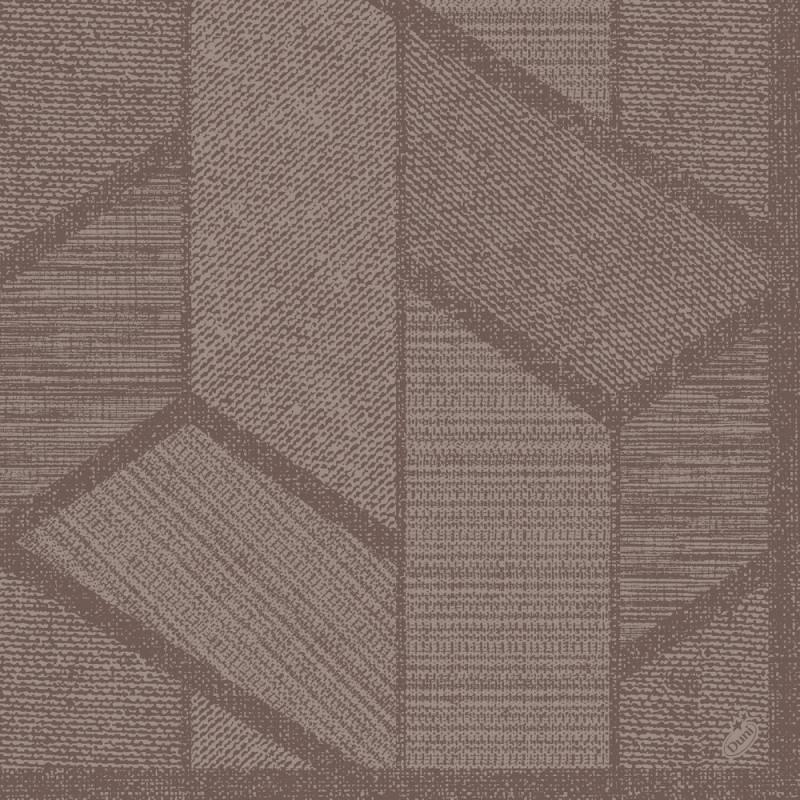 Image of   Middagsserviet, Dunisoft Elwin, 1-lags, 1/4 fold, 40x40cm, greige *Denne vare tages ikke retur*