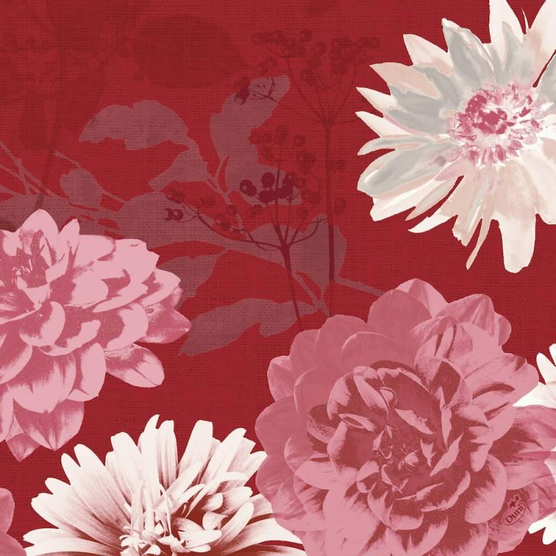Image of   Middagsserviet, Dunisoft Autumn Floral, 1/4 fold, 40x40cm, flerfarvet *Denne vare tages ikke retur*