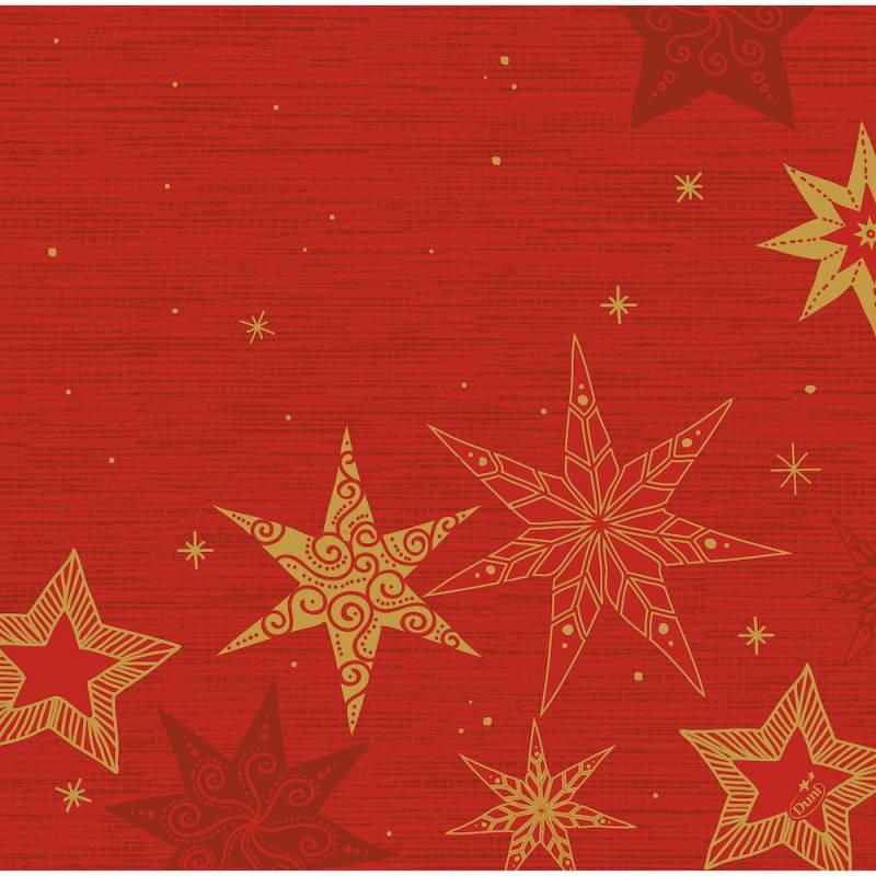 Image of   Middagsserviet, Dunisoft Star Stories, 40x40cm, rød *Denne vare tages ikke retur*