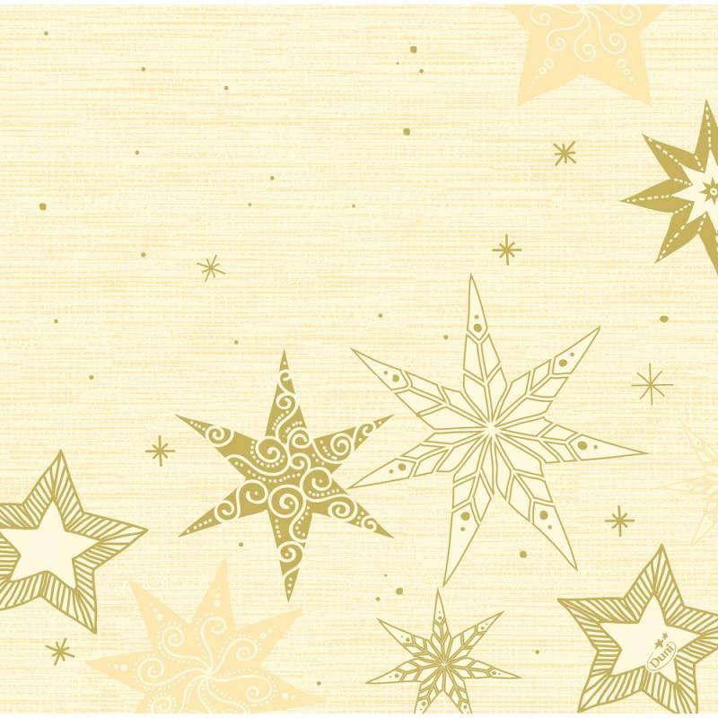 Image of   Middagsserviet, Dunisoft Star Stories, 40x40cm, buttermilk *Denne vare tages ikke retur*