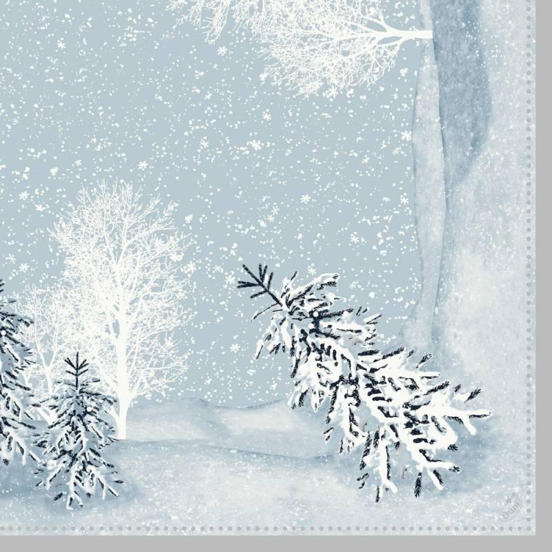Image of   Middagsserviet, Duni Winter Mornings, 40x40cm, lyseblå *Denne vare tages ikke retur*