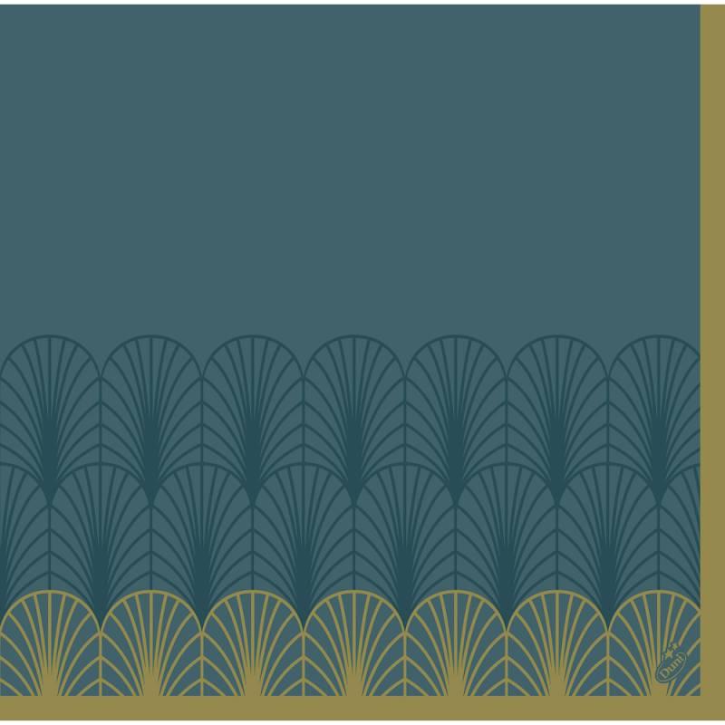 Image of   Middagsserviet, Dunisoft Empire, 1/4 fold, 40x40cm, petrol *Denne vare tages ikke retur*