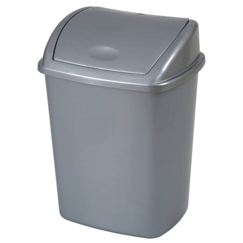 Image of   Affaldsspand, 20x25,2x33cm, 8 l, grå, plast, med sving låg