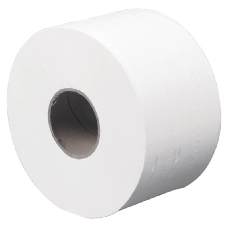 Image of   Jumborulle, 2-lags, Mini, 180m x 9cm, Ø19,5cm, hvid, 100% genbrugspapir