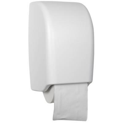 Image of   Dispenser, White Classic, 16,5x16x27cm, hvid, plast, til 2 ruller toiletpapir