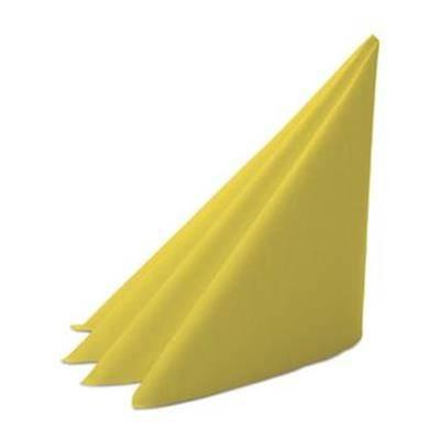 Image of   Middagsserviet, Dunilin, 1/4 fold, 40x40cm, gul *Denne vare tages ikke retur*