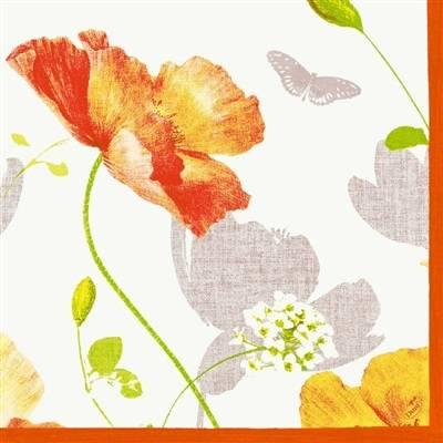 Image of   Middagsserviet, Dunilin Poppy, 1/4 fold, 40x40cm, flerfarvet *Denne vare tages ikke retur*
