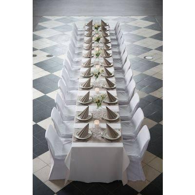 Image of   Middagsserviet, Dunilin, 1/4 fold, 40x40cm, grå *Denne vare tages ikke retur*