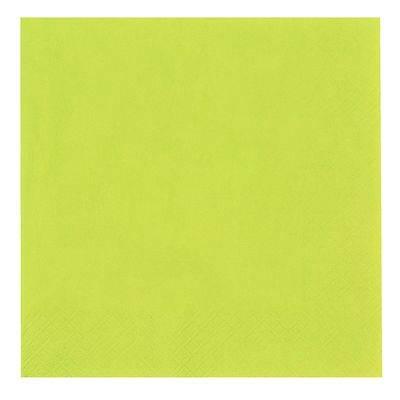 Image of   Frokostserviet, Abena Gastro-Line, 3-lags, 1/4 fold, 33x33cm, limegrøn, 100% nyfiber