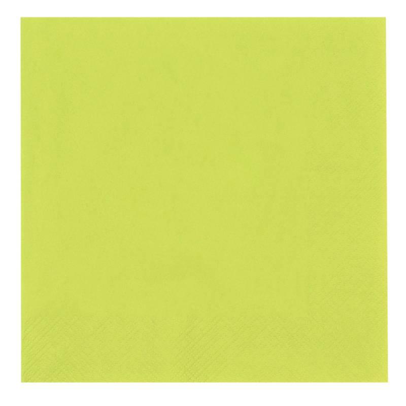 Image of   Frokostserviet, Abena Gastro, 3-lags, 1/4 fold, 33x33cm, limegrøn, 100% nyfiber