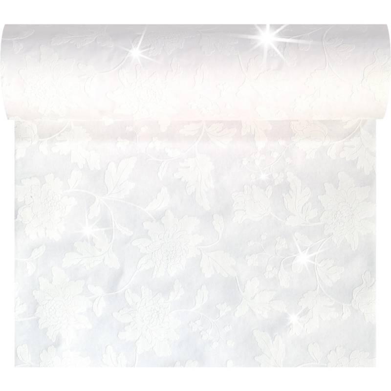 Image of   Kuvertløber, Sensia Brilliance, 2400x45cm, hvid, glinsende effekt, perforeret for hver 1,2 m *Denne vare tages ikke retur*