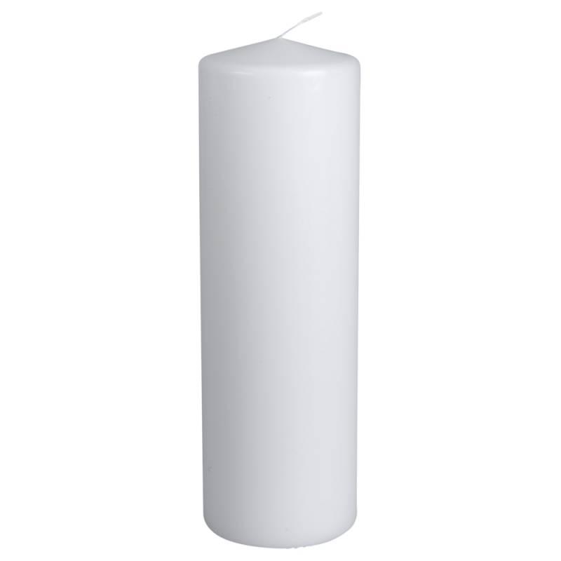 Image of   Bloklys, 30cm, Ø9,6cm, hvid, 190 timer, 100% paraffin
