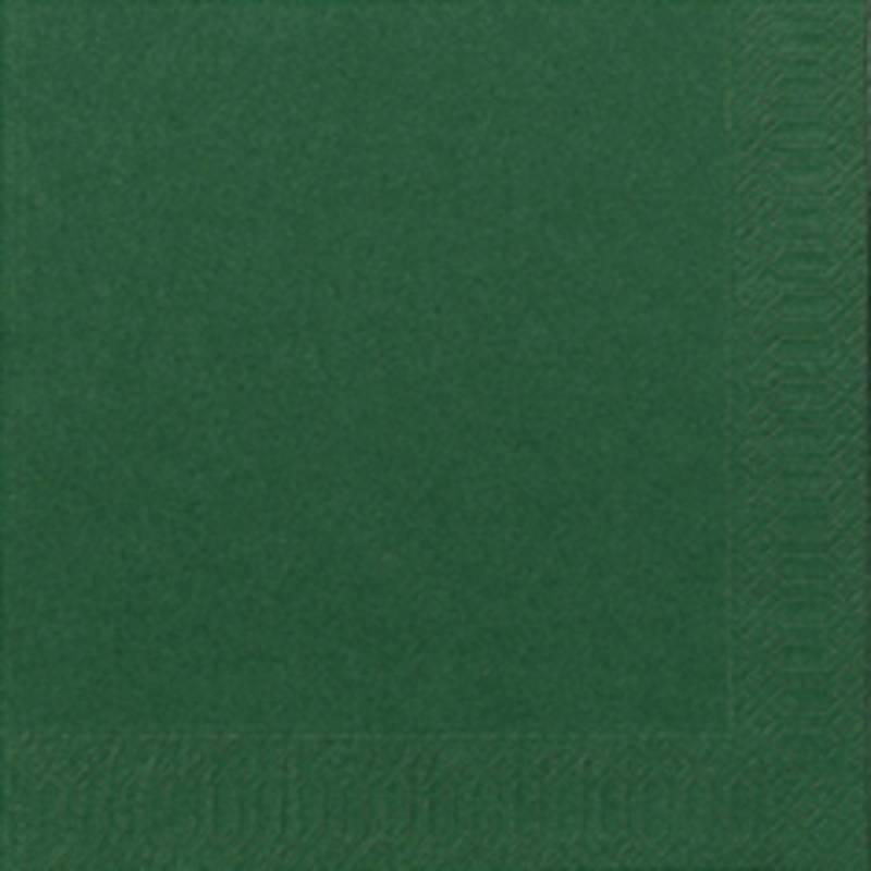 Image of   Frokostserviet, Duni, 3-lags, 1/4 fold, 33x33cm, mørkegrøn, papir *Denne vare tages ikke retur*