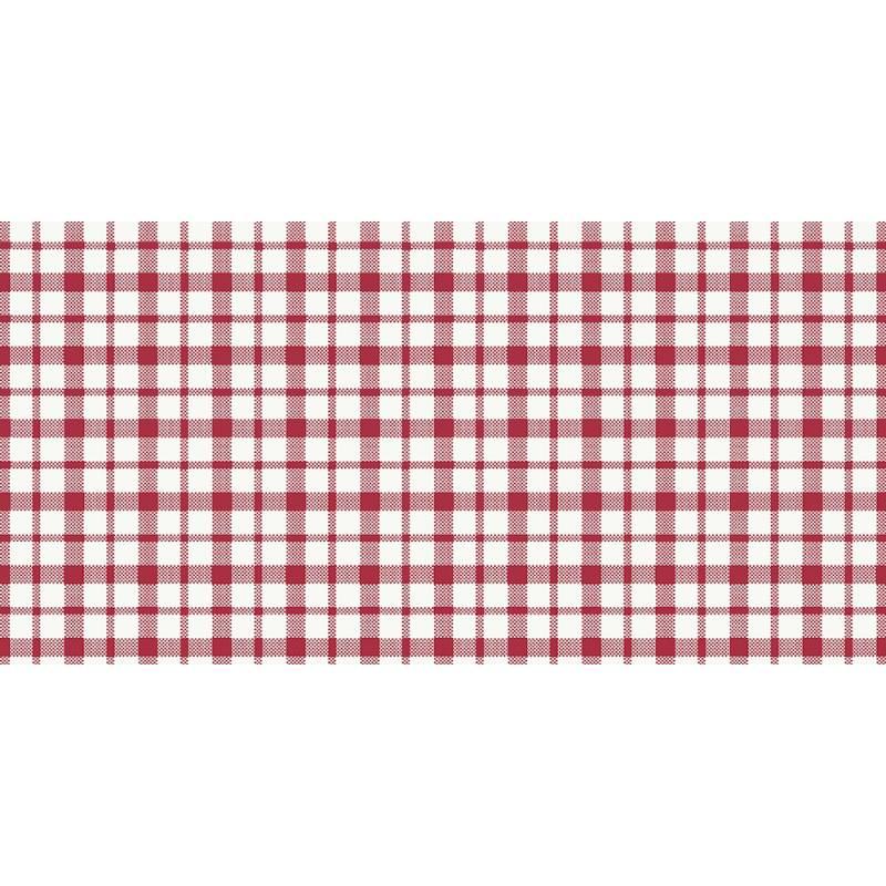 Billede af Stikdug, Dunisilk Giovanni, 84x84cm, rød, ternet *Denne vare tages ikke retur*