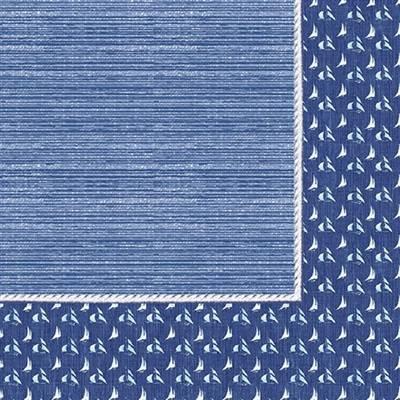 Image of   Middagsserviet, Dunilin Santorini, 1/4 fold, 40x40cm, blå *Denne vare tages ikke retur*