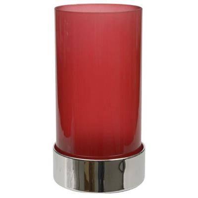 Image of   Basic stage, 15cm, Ø8,2cm, frosted rød, glas, til basic bund