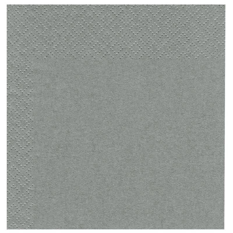 Frokostserviet, Abena Gastro-Line, 2-lags, 1/4 fold, 33x33cm, grå, 100% nyfiber