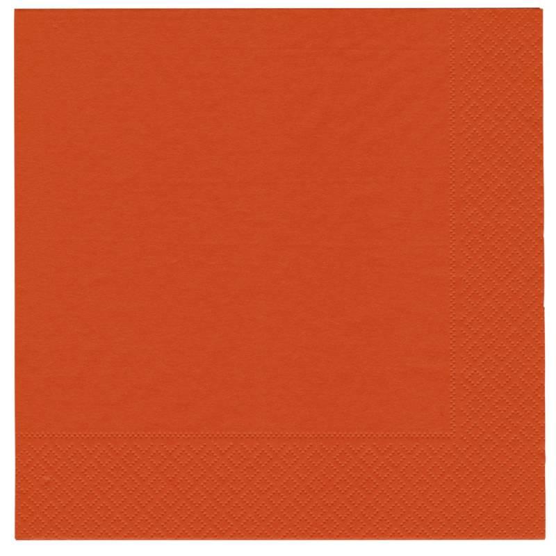 Middagsserviet, Abena Gastro-Line, 2-lags, 1/4 fold, 40x40cm, orange, 100% nyfiber