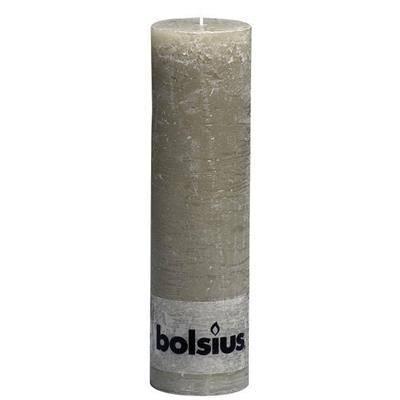 Image of   Bloklys, Bolsius, 19cm, Ø6,8cm, slate, 65 timer, 100% paraffin