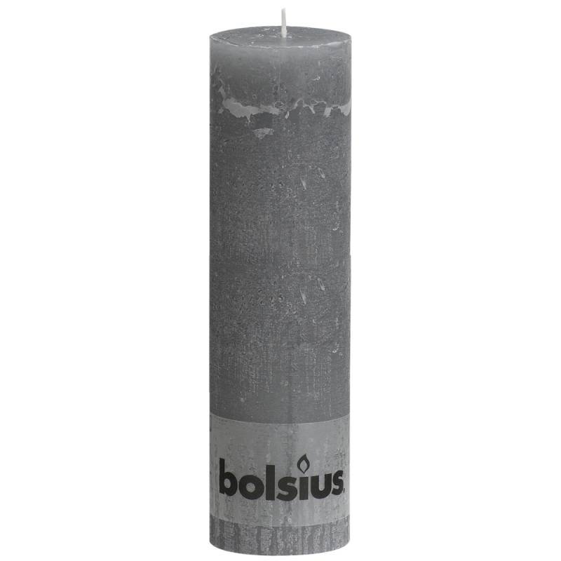Image of   Bloklys, Bolsius, 19cm, Ø6,8cm, lysegrå, 65 timer, 100% paraffin