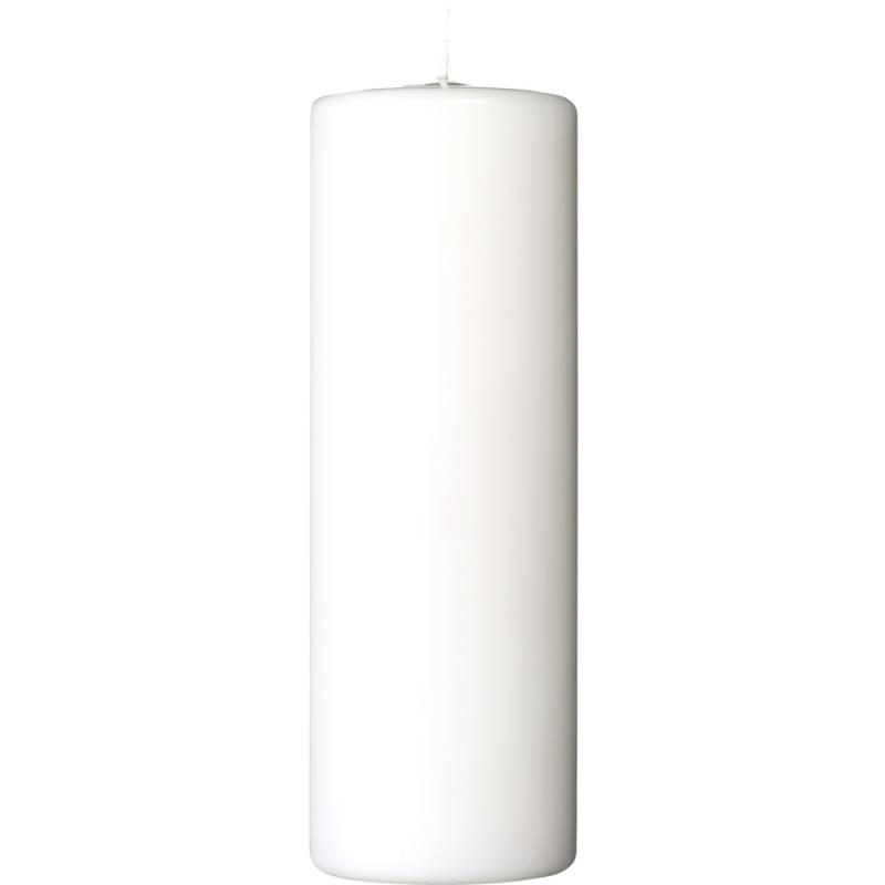 Image of   Bloklys, 18cm, Ø7,8cm, hvid, 76 timer, 100% stearin