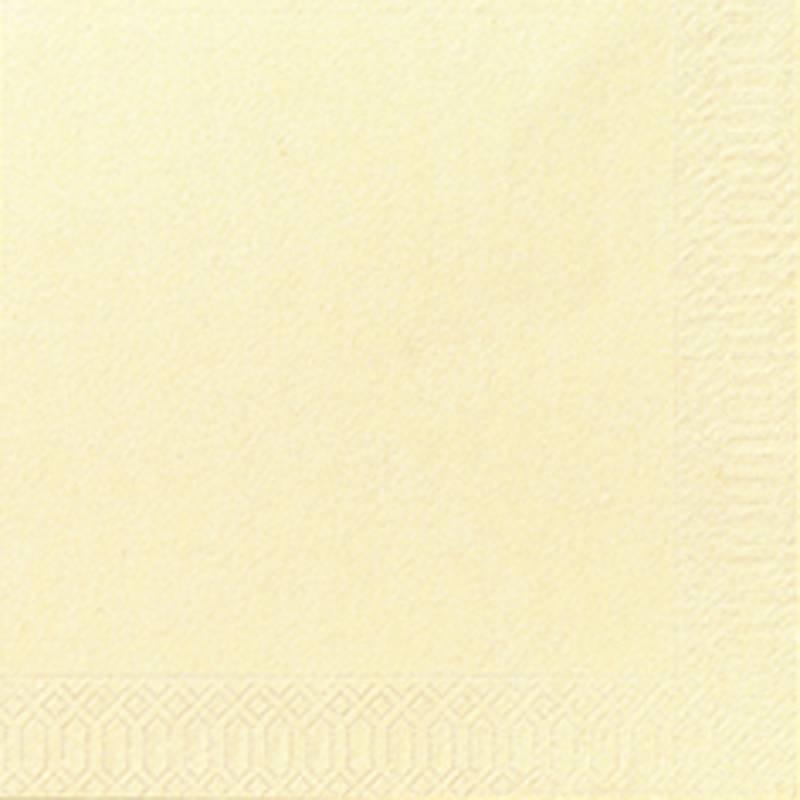 Image of   Frokostserviet, Duni, 3-lags, 1/4 fold, 33x33cm, buttermilk, papir *Denne vare tages ikke retur*
