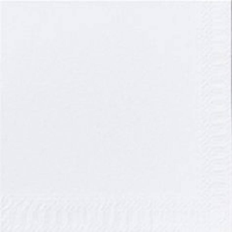 Kaffeserviet, Duni, 1-lags, 1/4 fold, 24x24cm, hvid, papir