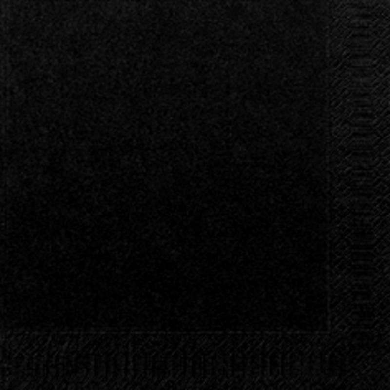 Image of   Frokostserviet, Duni, 3-lags, 1/4 fold, 33x33cm, sort, papir *Denne vare tages ikke retur*