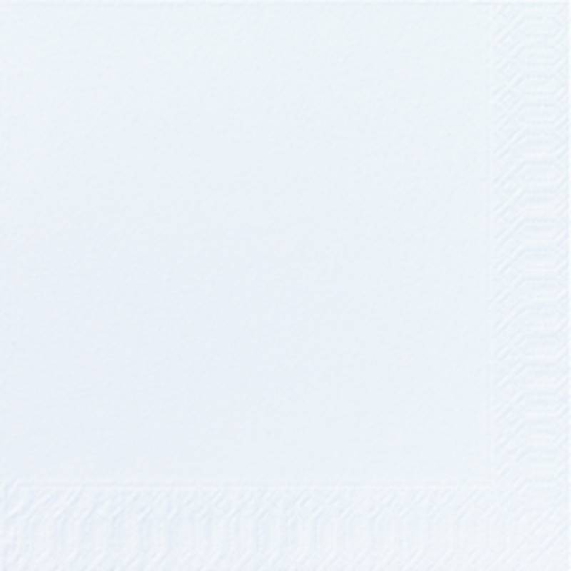 Image of   Frokostserviet, Duni, 3-lags, 1/4 fold, 33x33cm, hvid, papir