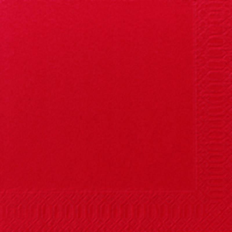 Image of   Frokostserviet, Duni, 3-lags, 1/4 fold, 33x33cm, rød, papir *Denne vare tages ikke retur*
