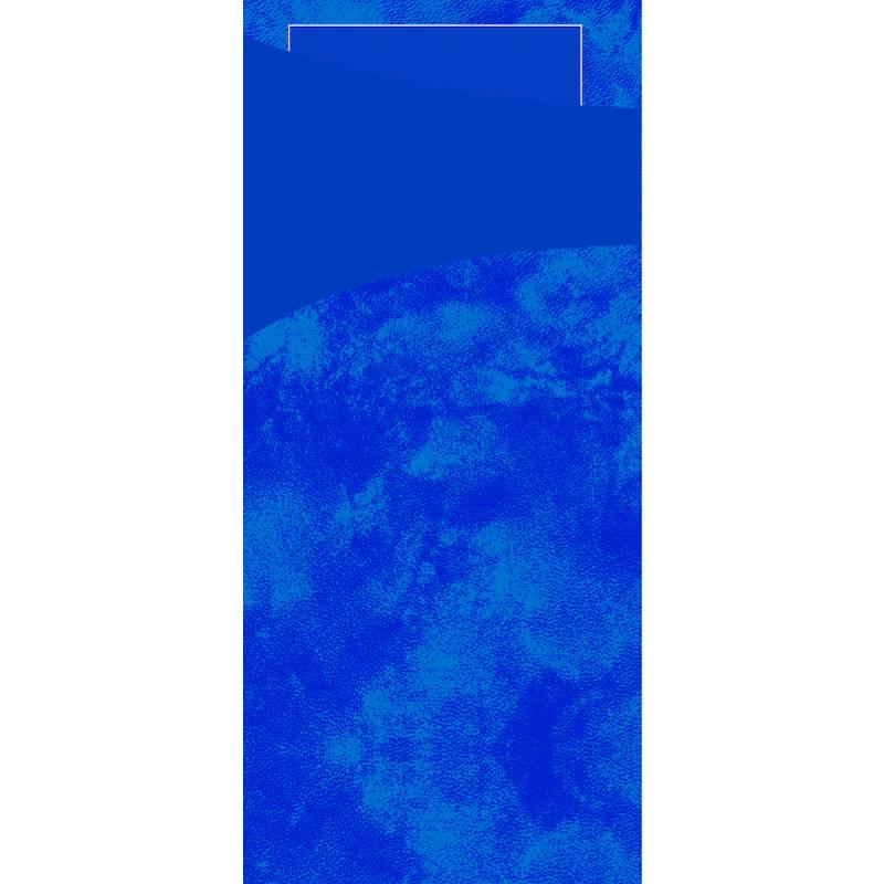 Image of   Bestiklomme, Duni Sacchetto, 19x8,5cm, mørkeblå, papir, med mørkeblå serviet *Denne vare tages ikke retur*