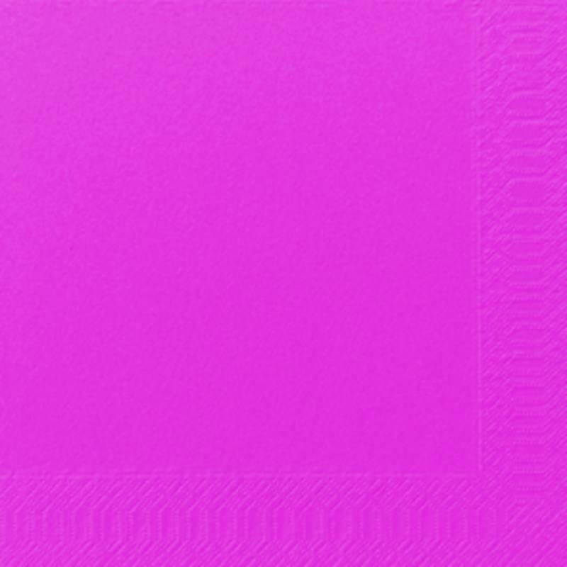 Image of   Frokostserviet, Duni, 3-lags, 1/4 fold, 33x33cm, fuchsia, papir *Denne vare tages ikke retur*