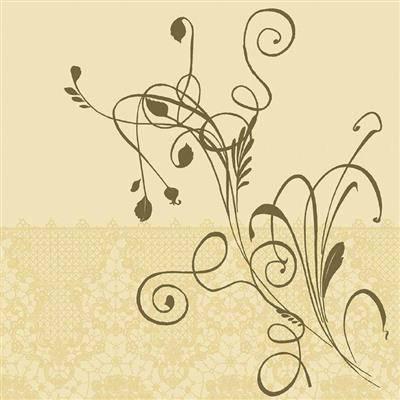 Image of   Middagsserviet, Dunilin, 1/4 fold, 48x48cm, flerfarvet *Denne vare tages ikke retur*