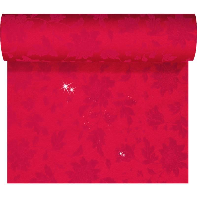 Image of   Kuvertløber, Sensia Brilliance, 2400x45cm, rød, glinsende effekt, perforeret for hver 1,2 m *Denne vare tages ikke retur*
