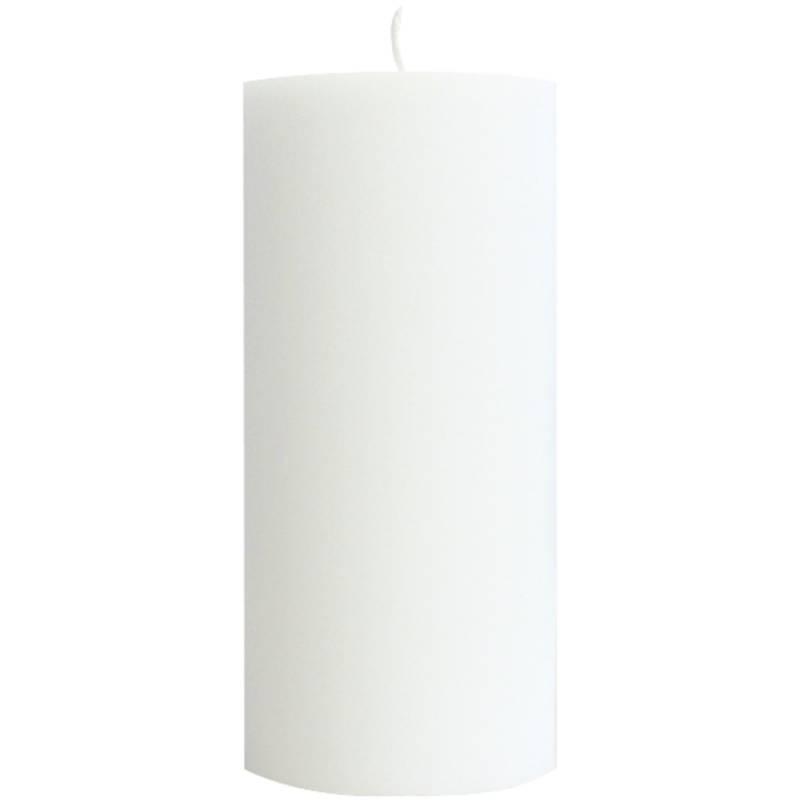 Image of   Bloklys, Duni, 15cm, Ø7cm, hvid, 50 timer *Denne vare tages ikke retur*