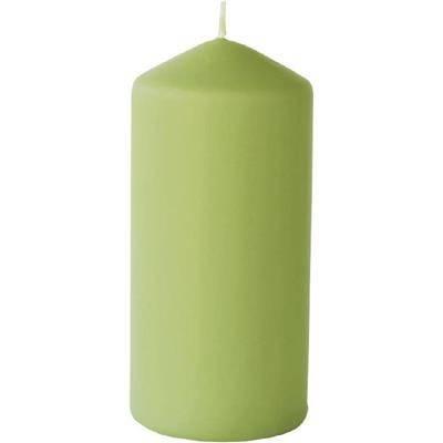 Image of   Bloklys, Duni, 15cm, Ø7cm, herbal green, 50 timer, mat *Denne vare tages ikke retur*
