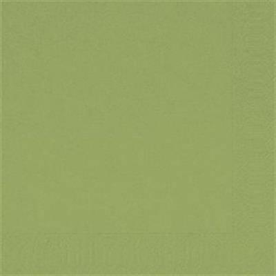 Image of   Frokostserviet, Duni, 3-lags, 1/4 fold, 33x33cm, herbal green, papir *Denne vare tages ikke retur*