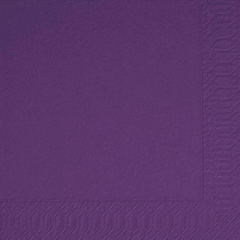 Image of   Frokostserviet, Duni, 3-lags, 1/4 fold, 33x33cm, plum, papir *Denne vare tages ikke retur*