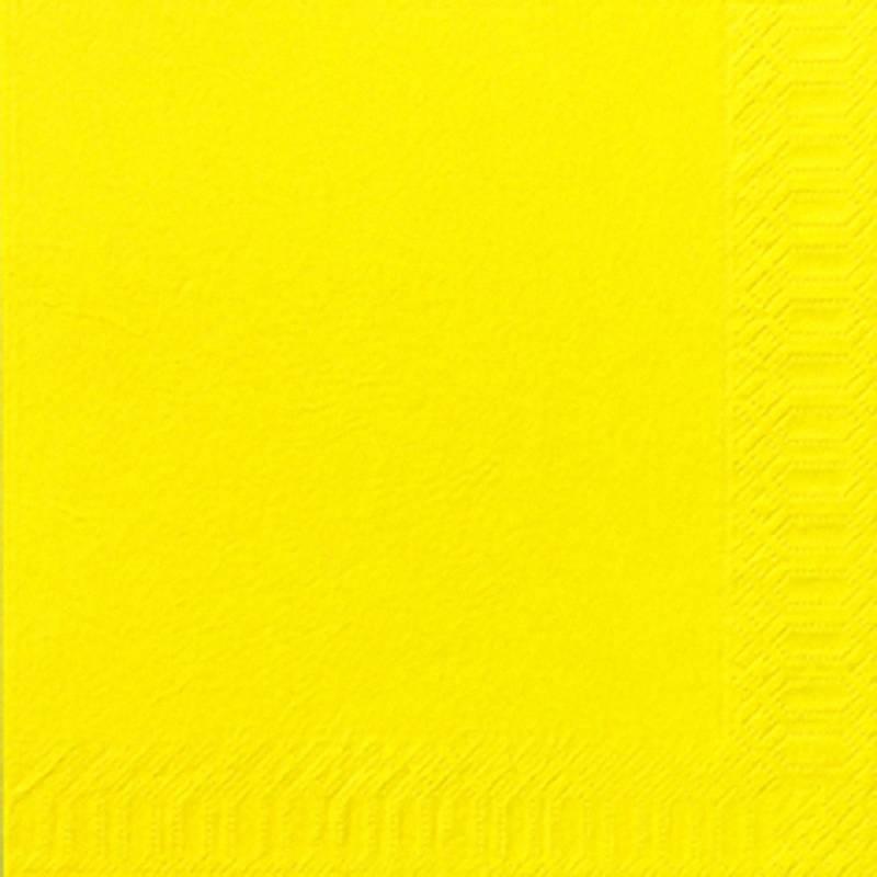 Image of   Frokostserviet, Duni, 3-lags, 1/4 fold, 33x33cm, gul, papir *Denne vare tages ikke retur*
